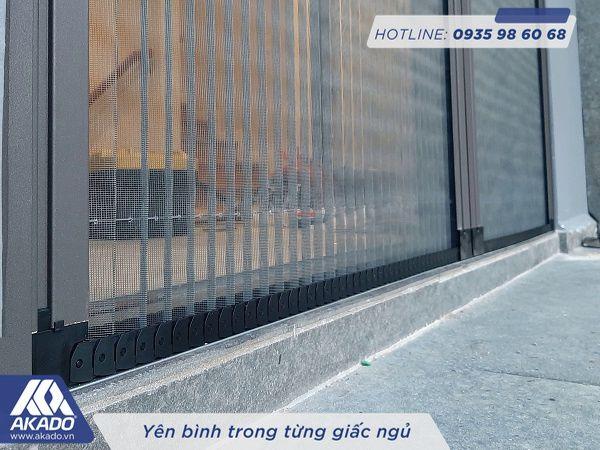 Dây xích nhựa cửa xếp không ray