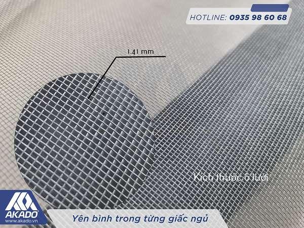 Kích thước lỗ lưới thủy tinh