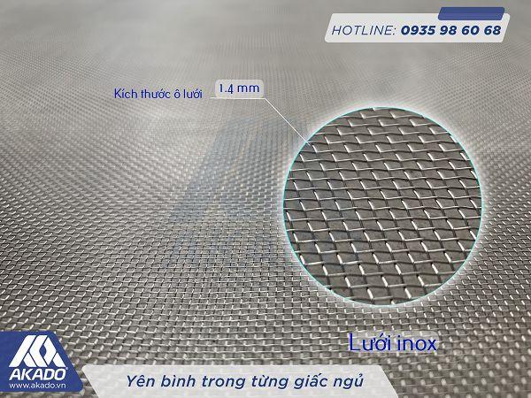 Lưới inox 304 và kích thước ô lưới