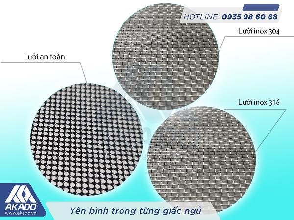 Lưới inox 304, inox 316 và lưới an toàn
